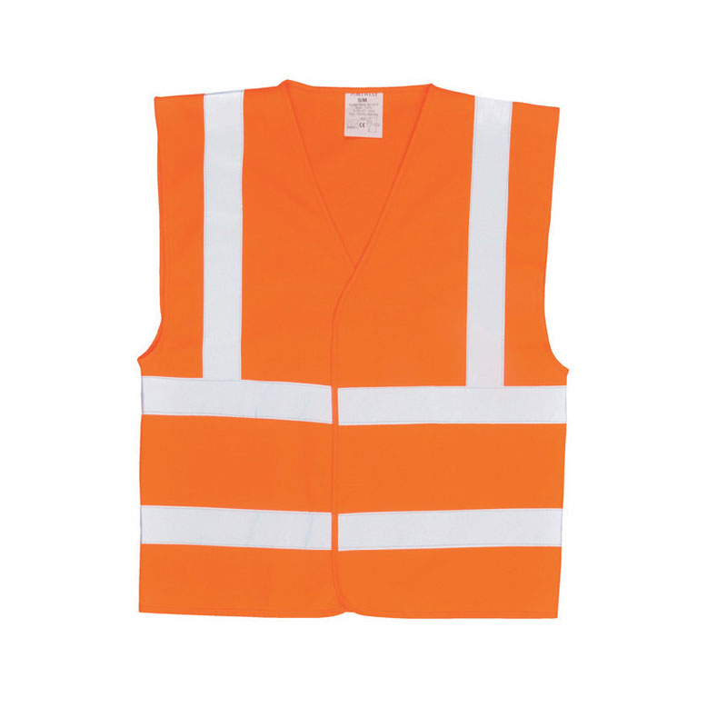 Orange High Visibility Waistcoat Large
