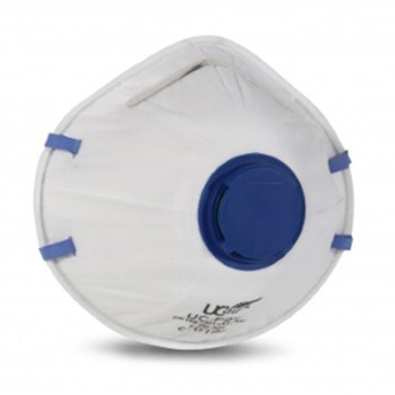 FFP2 Valved disposable cup shaped respirator protects against dusts/mists and fumes.