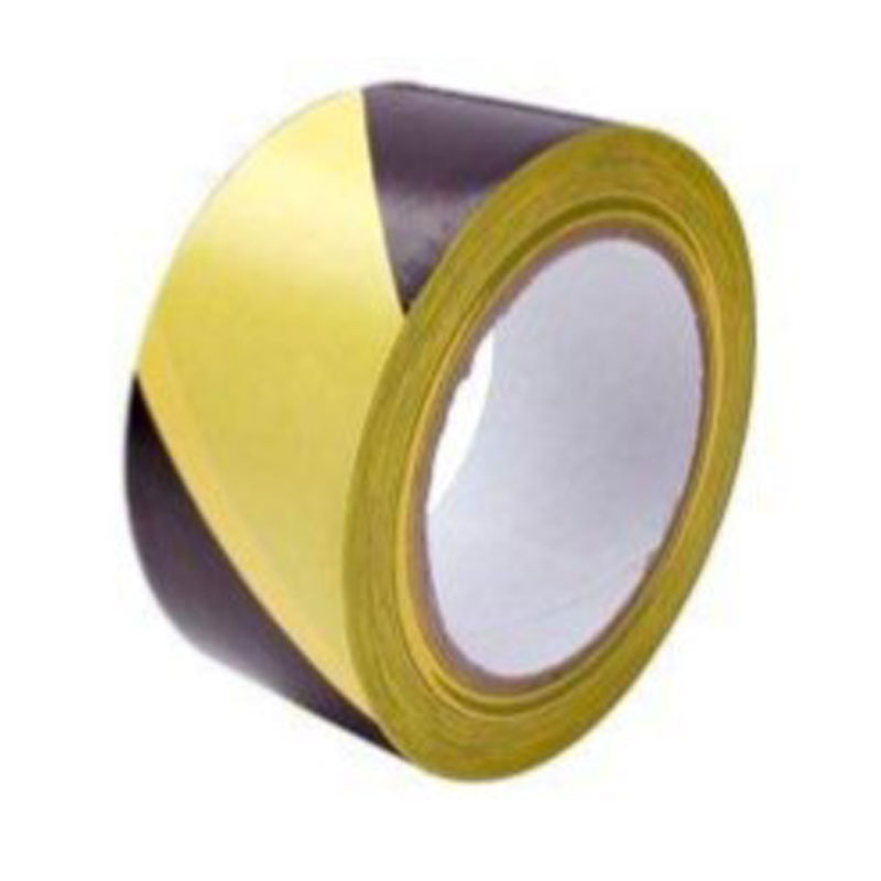 70mm x 500mtr Non Adhesive Black and Yellow Barrier Tape