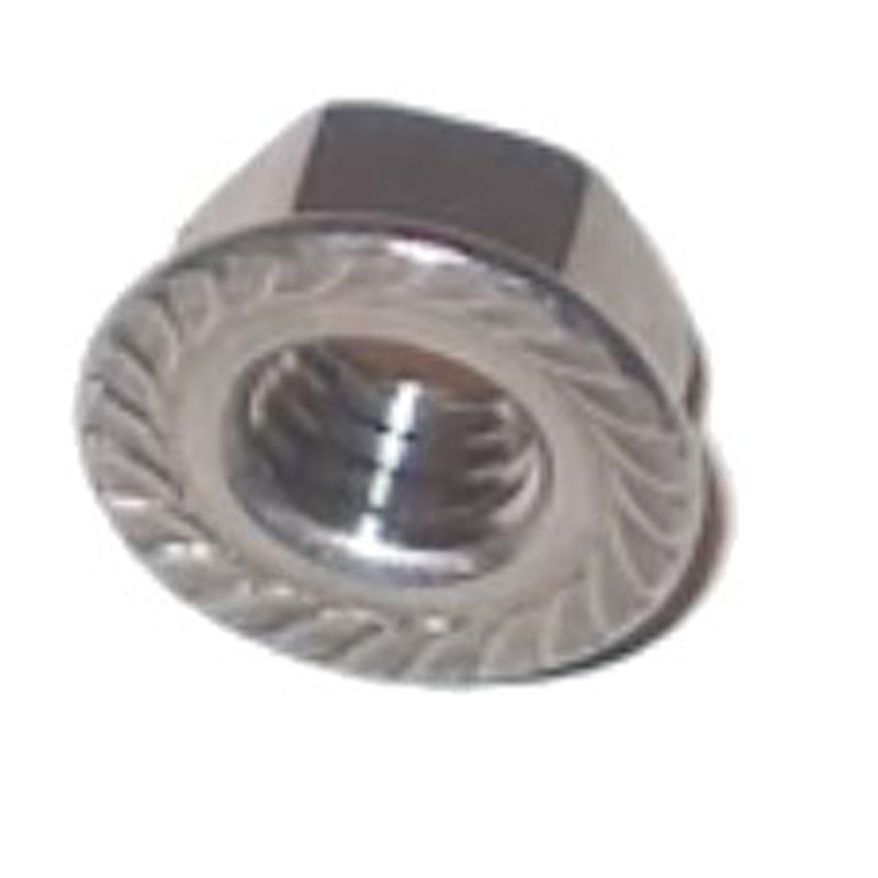 M10 Serrated Flange Nuts Zinc Plated