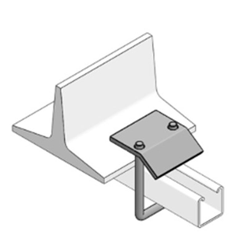 W046 Beam Clamp C/W 150mm M10 U Bolt To Suit 41X41 Back To Back